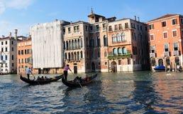 Barche Gondole Venezia stock afbeelding