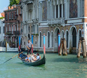 Barche Gondole Venezia. The gondola is a traditional, flat-bottomed Venetian rowing boat, well suited to the conditions of the Venetian lagoon royalty free stock photography