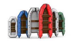 Barche gonfiabili illustrazione di stock
