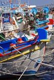 Barche in Grecia Fotografia Stock