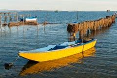 Barche in Grecia Fotografie Stock