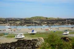 Barche incagliate bassa marea (1) Immagini Stock