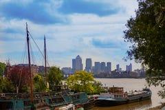 Barche Inghilterra di Londra il Tamigi immagine stock libera da diritti