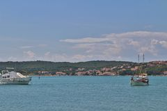 Barche in Klimno sull'isola di Krk Fotografia Stock