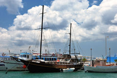 Barche in Kos Fotografia Stock Libera da Diritti
