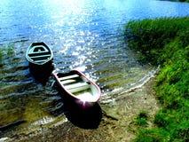 Barche in lago 2 Fotografie Stock Libere da Diritti