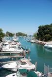 Barche in lago Michigan Fotografia Stock