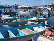 Barche in mare Fotografia Stock Libera da Diritti