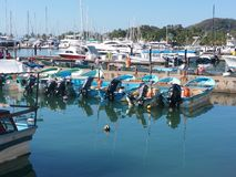 Barche in mare Fotografie Stock