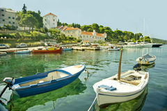 Barche in mare adriatico Fotografia Stock Libera da Diritti