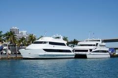 Barche a Miami, Florida Fotografie Stock