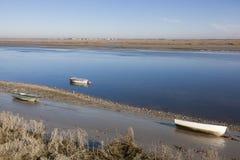 Barche nel Baie de Somme fotografie stock libere da diritti