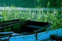 Barche nel lago immagine stock libera da diritti