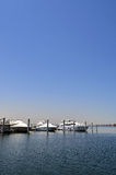 Barche nel lago Immagine Stock