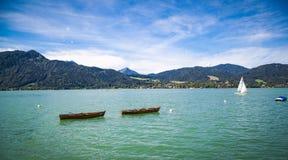 Barche nel lago Fotografia Stock
