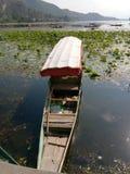 Barche nel lago Mansbal Fotografia Stock Libera da Diritti