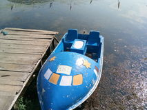 Barche nel lago Mansbal Immagini Stock Libere da Diritti