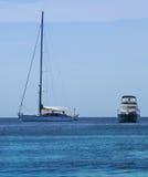 Barche nel mare Immagini Stock Libere da Diritti