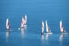 Barche nel mare Immagine Stock