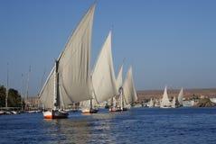 Barche nel Nilo Fotografia Stock Libera da Diritti