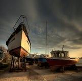 Barche nel parcheggio Immagine Stock Libera da Diritti