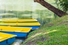 Barche nel parco pubblico Immagini Stock
