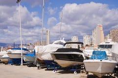 Barche nel porto Fotografia Stock