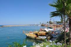 Barche nel porto Immagini Stock