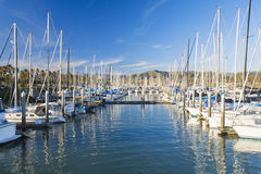 Barche nel porto Fotografie Stock