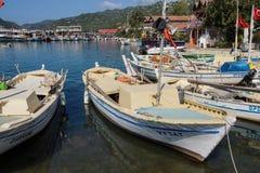 Barche nel porto di Kekove Fotografie Stock