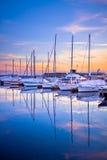 Barche nel porto di Toronto Fotografie Stock