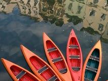 Barche nella città Fotografia Stock Libera da Diritti