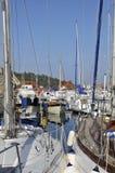 Barche nella porta del sur Mer di Theoule in Francia Fotografia Stock Libera da Diritti