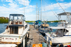 barche nella Repubblica dominicana Fotografia Stock