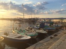 Barche in Nessebar Immagine Stock Libera da Diritti