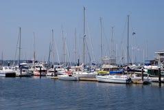 Barche a Newport, Rhode Island fotografia stock libera da diritti