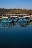 Barche ordinate nel palazzo di estate Fotografia Stock Libera da Diritti