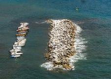 Barche parcheggiate Immagini Stock