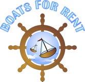 Barche per affitto illustrazione di stock