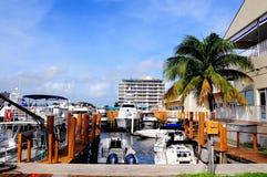 Barche in porticciolo in Florida Immagini Stock