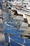 Barche in porto Fotografie Stock Libere da Diritti