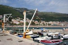 Barche in porto Fotografia Stock