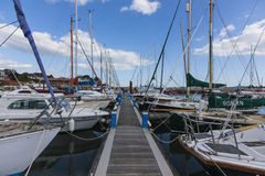 Barche in Quay ad ovest fotografia stock libera da diritti