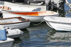 Barche a remi di fila di fila Immagini Stock Libere da Diritti