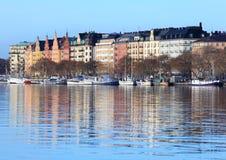 Barche a Stoccolma Fotografia Stock Libera da Diritti