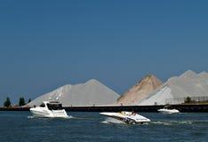 Barche su acqua Immagine Stock Libera da Diritti