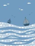 Barche su acqua Fotografia Stock