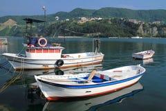 Barche su Mar Nero Fotografia Stock Libera da Diritti