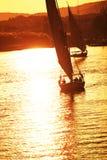 Barche su Nilo Fotografie Stock
