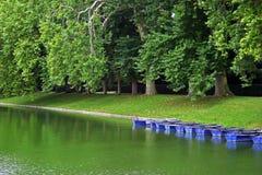 Barche su un lago in Francia Immagini Stock Libere da Diritti